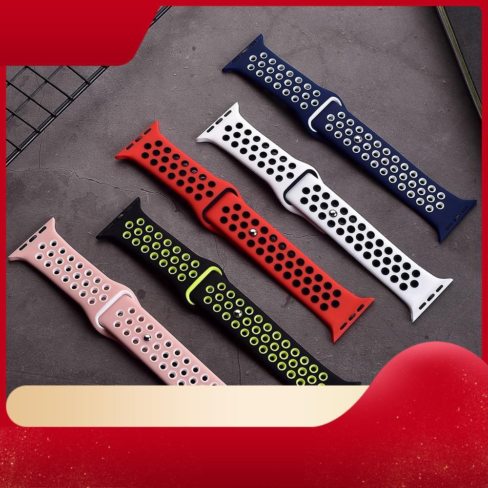 ♥[Ready to ship] [ส่งเร็ว สต๊อกไทย] สาย Apple Watch Nike Sport Band สายซิลิโคน สำหรับ applewatch Series 6 5 4 3 ตัวเรื่อ