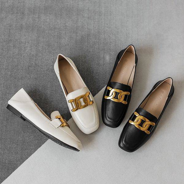 ร้องเท้า รองเท้าผู้หญิง รองเท้าคัชชู ✿รองเท้าเด็ก 2021 ใหม่รองเท้าเดียวของผู้หญิงตื้นปากด้านล่างนุ่มหนังรองเท้าหนังขนาดเ