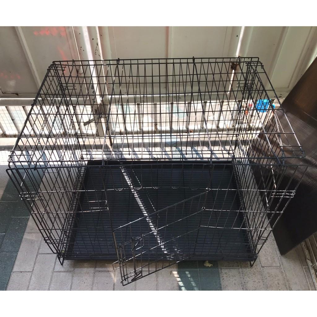 มือสอง กรงสุนัข กรงแมว ขนาดใหญ่ กรงหมา กรงแมว กรงกระต่าย แข็งแรงทนทาน XL 90 x 60 x 66 ซม.
