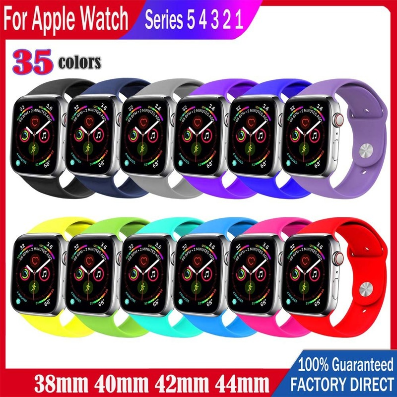 Apple Watch Strap Original Silicone Sport Band 38/40mm 42/44mm for iWatch Series 5/4/3/2/1