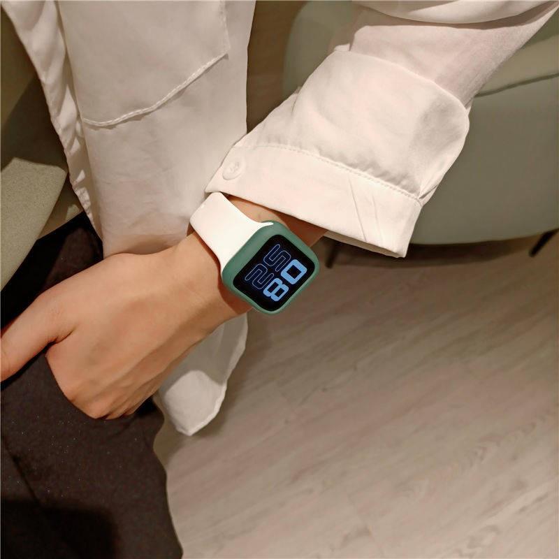 💥 สาย applewatch 🔥 สาย Applewatch3 ทุกอย่างเข้ากันได้กับ iwatch1-6 รุ่น se ความคมชัดสากลสีซิลิโคนสายนาฬิกา Apple
