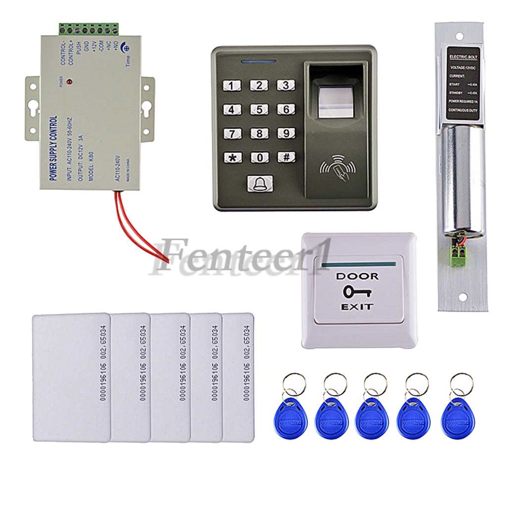 Biometric Fingerprint Access Control Kit With 5 RFID Cards 5 Key Cards