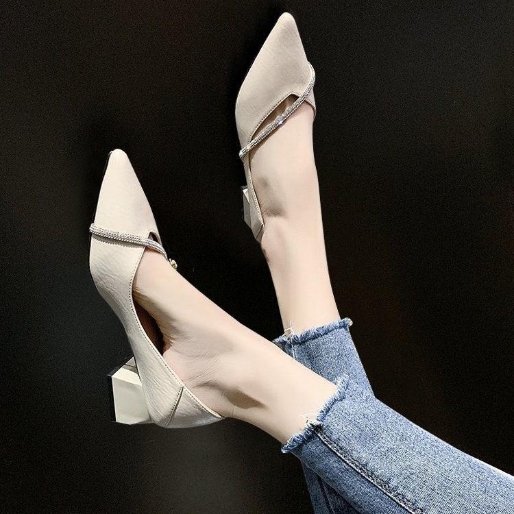 🎉🎉รองเท้าผู้หญิง, รองเท้าส้นสูง, รองเท้าคัชชูหัวแหลม,