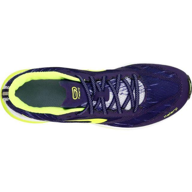 acheter réel chaussures de tempérament sélection spéciale de รองเท้าวิ่งสำหรับผู้หญิงรุ่น KALENJI KIPRUN RACE (สีม่วง/เหลือง)