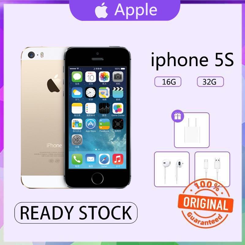โทรศัพท์มือถือมือสองของแท้ Apple iPhone5s ของแท้ 100% ไอโฟน5s ใช้แล้ว / 16/32GB ไอโฟนมือ2 โทรศัพท์ มือถือราคาถูก