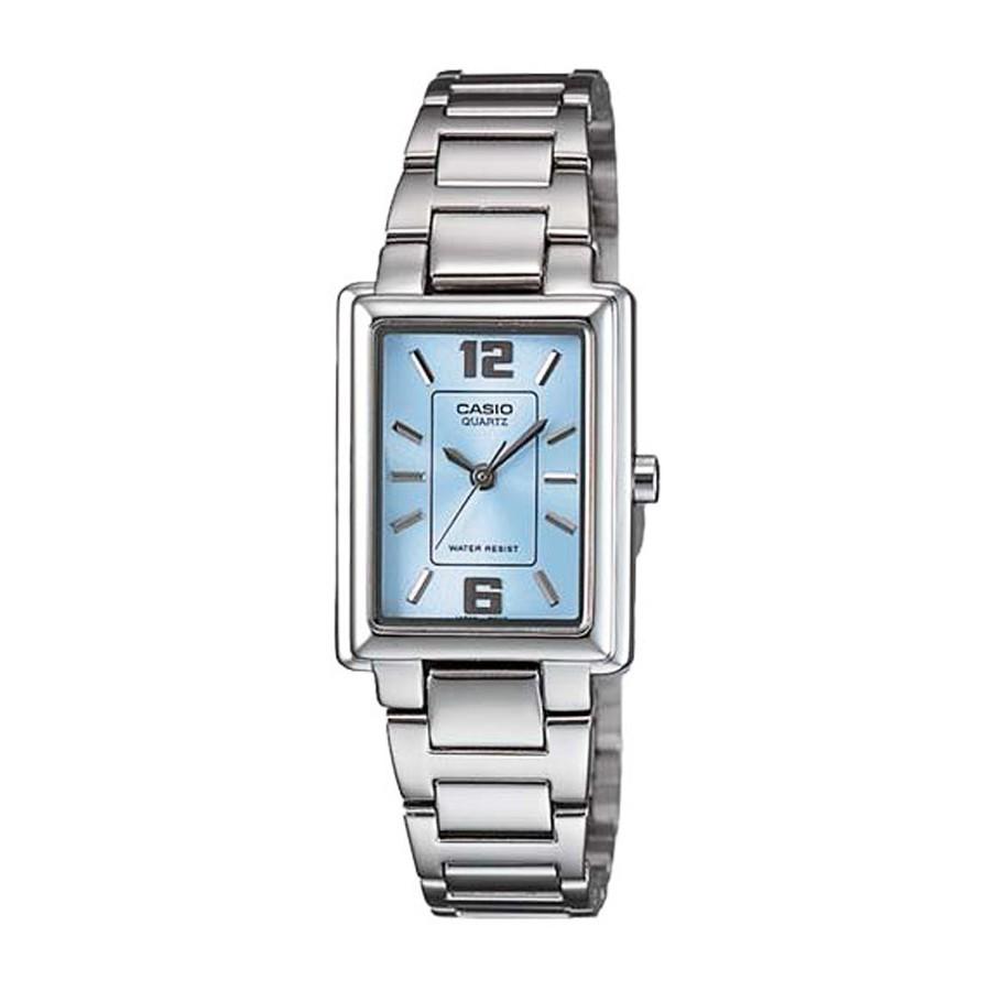 Casio Standard นาฬิกาข้อมือผู้หญิง สายสแตนเลส รุ่น LTP-1238D, LTP-1238D-2A ( CMG )- สีเงิน