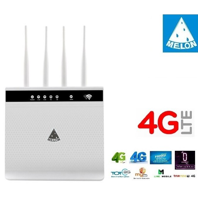 4G LTE Wireless Router ปล่อย Wi Fi, 1200Mbps Dual Band 2.4G+5G รองรับ 3G4G ทุกเครือข่าย Turbor Fast Speed