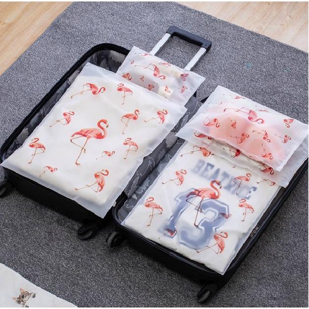 จากสิบบาท/นกกระเรียนเดินทางโปร่งใสถุงกันน้ำถุงเก็บชุดชั้นในถุงเก็บกระเป๋าเดินทาง / ถุงปิดผนึกกันน้ำ / จัดกระเป๋า (นกกระเรียน) / ต้องออกไปข้างนอก / INS / กระเป๋าเดินทางแฟชั่น