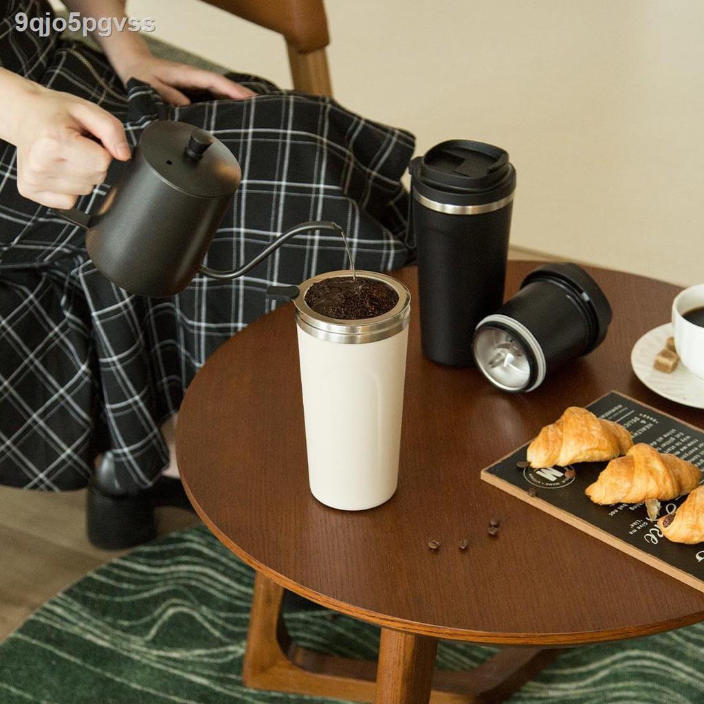 ☌เครื่องชงกาแฟแบบพกพาของ BUD Bo เครื่องบดกาแฟในครัวเรือนขนาดเล็กเครื่องบดไฟฟ้าถ้วยกาแฟทำมือแบบบูรณาการ