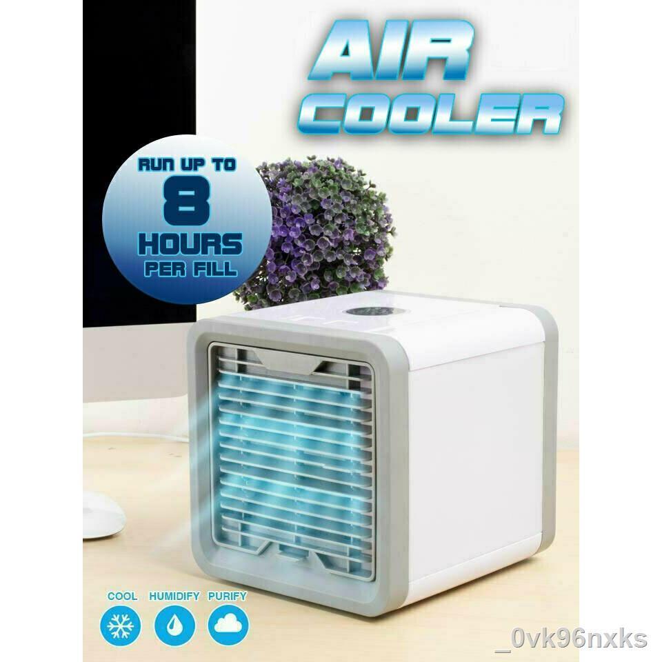 ㍿☃❄ARCTIC AIR พัดลมไอเย็นตั้งโต๊ะ พัดลมไอน้ำ พัดลมตั้งโต๊ะขนาดเล็ก เครื่องทำความเย็นมินิ แอร์พกพา Evaporative Air-Cooler
