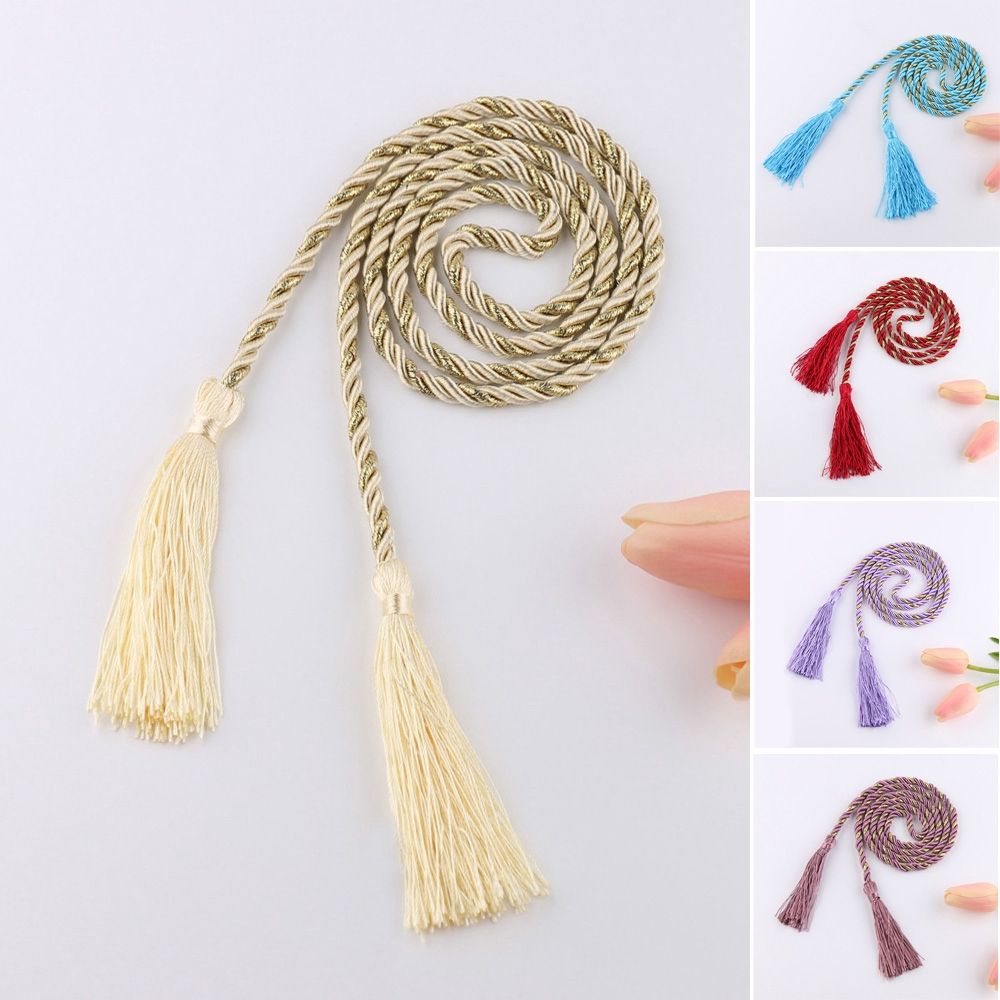 Tassel Rope Dark Red Tie-backs Fringed Peacock Blue//Rubber//Red//Purple Curtain