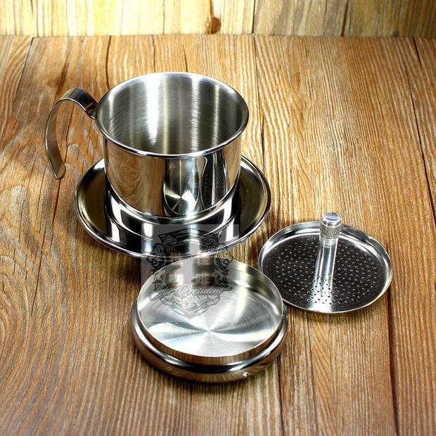 γツการจัดส่ง 304 เหล็กเวียดนามหม้อหม้อหยดเครื่องใช้ที่ทำด้วยมือกาแฟกรองกาแฟหยดหม้อกรองถ้วยหม้อ Moka