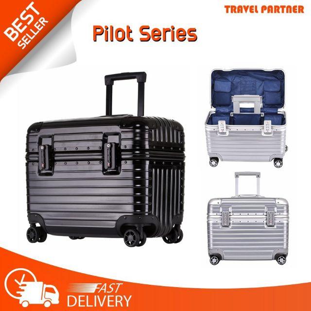 "pilot 💥 กระเป๋าเดินทางขนาด 16"" 21 ""  โครงอะลูมิเนียม body PC+ABS [รับประกัน 1ปี]"
