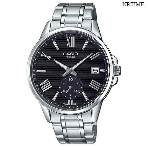 NRTIME Casio นาฬิกาข้อมือผู้ชาย สายสแตนเลส รุ่น MTP-EX100D-1AVDF,MTP-EX100D-1A T3Rd