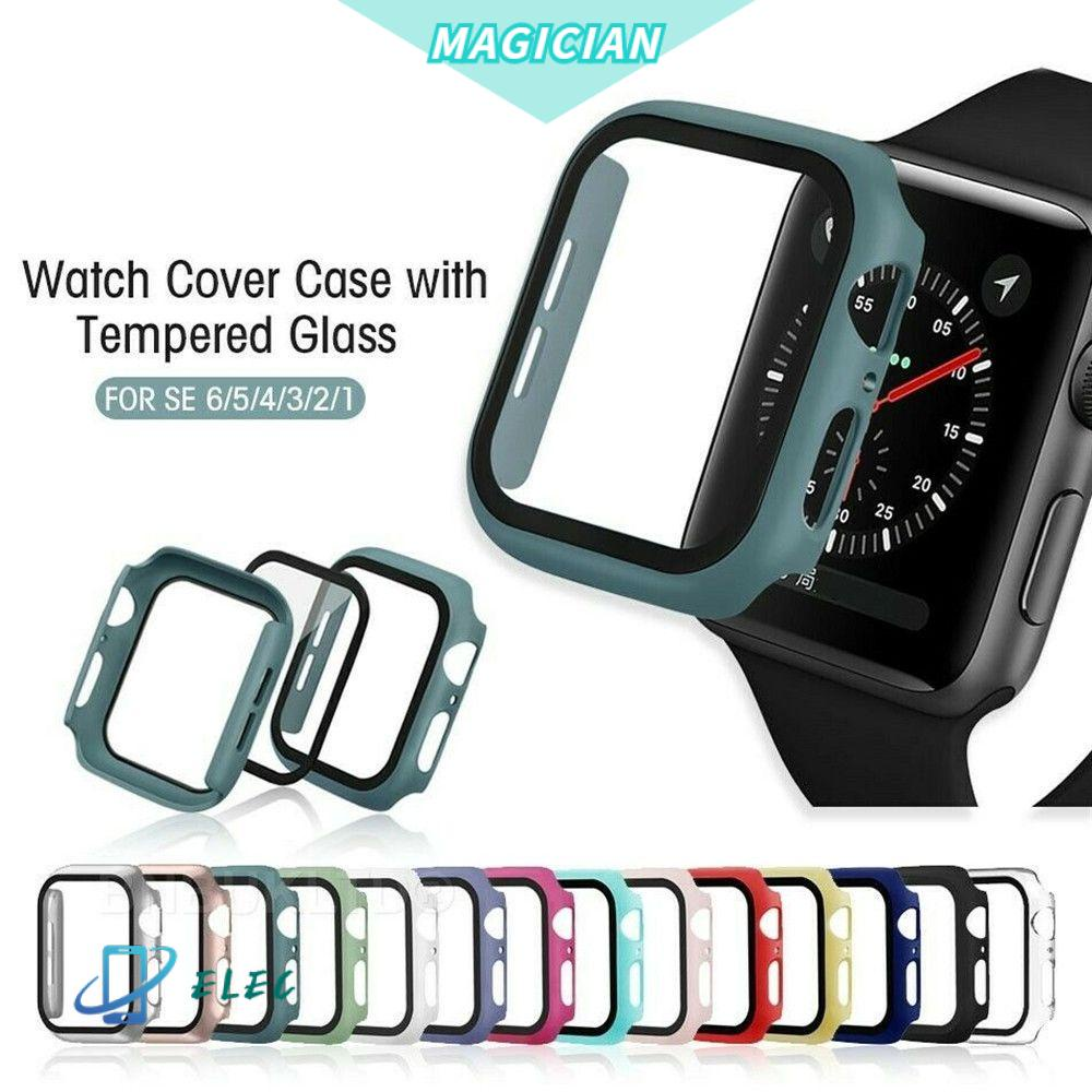 🔸MAGIC🔹 Ultra thin For Apple Watch Case Clear iWatch 38mm 40mm4 2mm 44mm Protector  Case Tempered Glass Slim Full Cover Soft Screen Protector/Multicolor