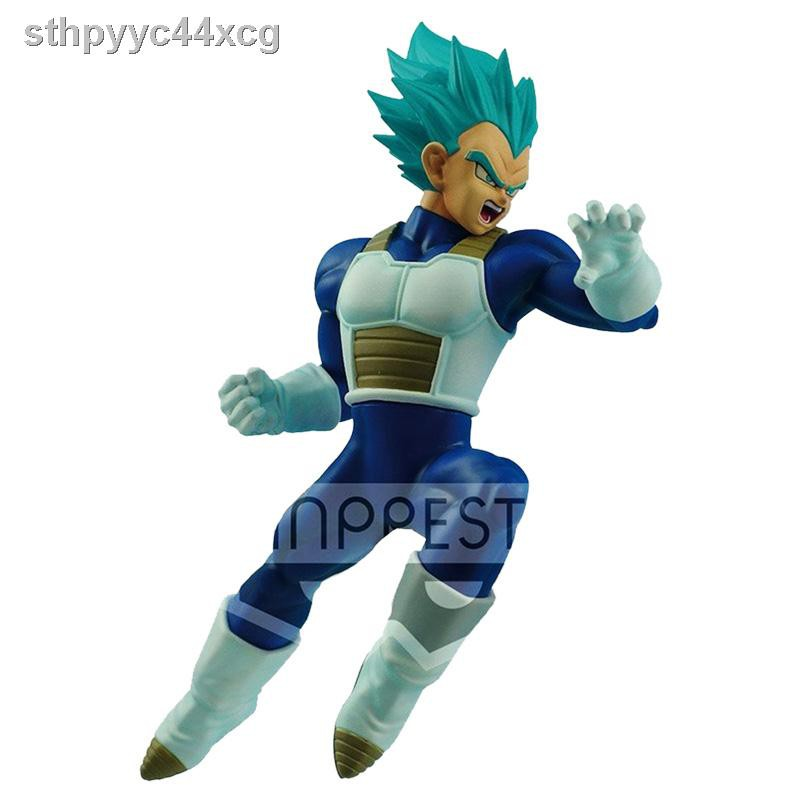 ♕Bandai Dragon Ball Hand-made Jingpin Optical Factory Super Warrior Biographies Saiyan God Blue Vegeta