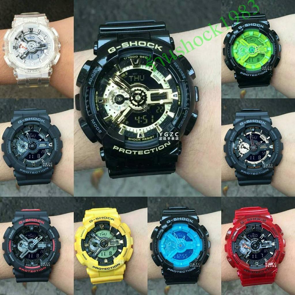 นาฬิกา G-Shock ของแท้ Casio G-Shock รุ่น GA-110GB-1Aของแท้ผู้ชายแฟชั่นกีฬากันน้ำสันทนาการนาฬิกาข้อมือ