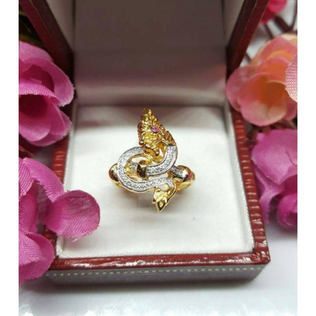แหวนพญานาคทองคำแท้ราคาโรงงาน