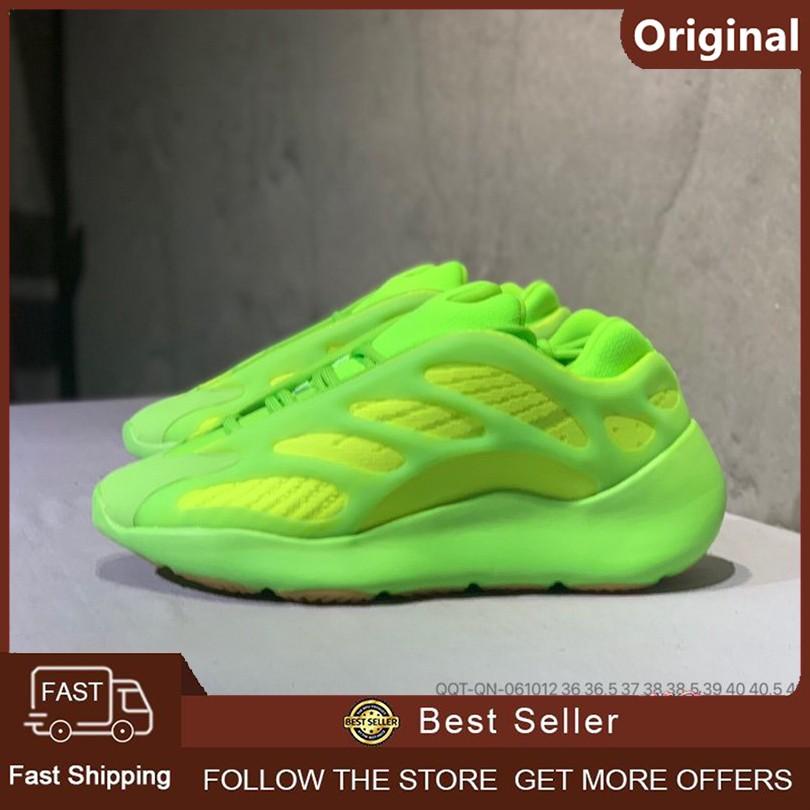 ของแท้ 100% Adidas Yeezy 700 V3 Boost รองเท้าวิ่งระบายอากาศรองเท้ากีฬา (สีเขียว)