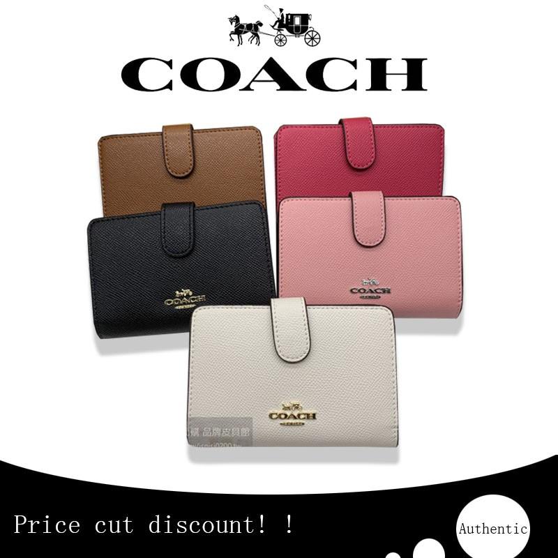 กระเป๋าแท้(พร้อมส่ง) กระเป๋าสตางค์ผู้หญิงใบสั้น Coach 11484 แท้ / กระเป๋าสตางค์สีทึบ