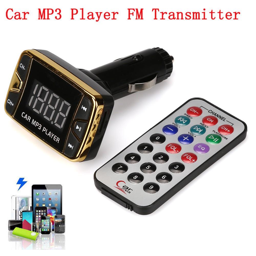 MP3 Player Wireless FM Transmitter Modulator Car Kit USB SD MMC LCD Remote 12V A
