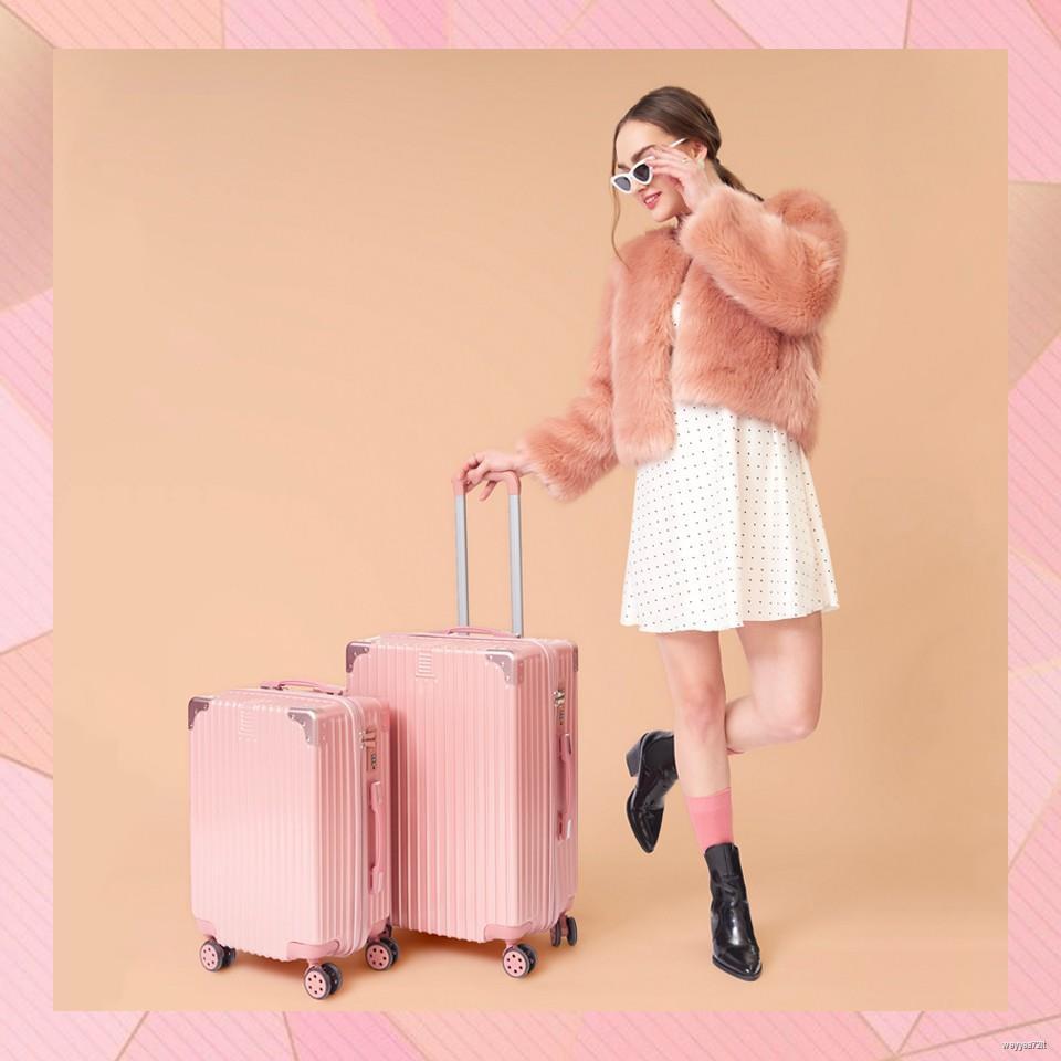 ◙♈[ฟรีผ้าคลุมกระเป๋า] Maisy Daisy กระเป๋าเดินทาง ล้อลาก วัสดุ ABS+PC 20/24นิ้ว แข็งแรง ทนทาน Stylish(V14)