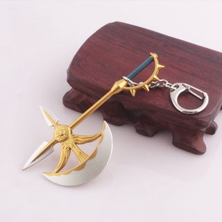 The Seven Deadly Sins Escanor Rhitta Keychain Nanatsu no Taizai Axe Bottle Opener Key Chain for Men Escanor Cosplay Jewe