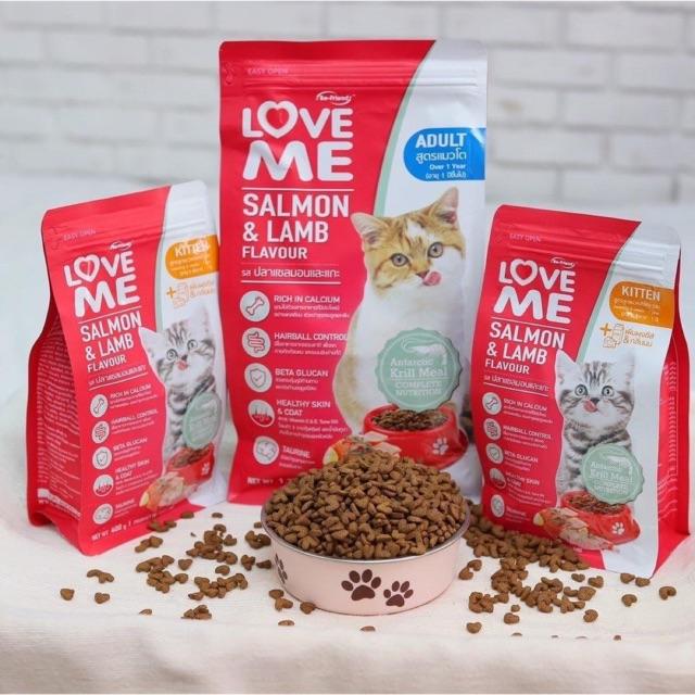 Love me อาหารแมว salmon & Lamb