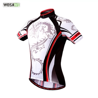 WOSAWE Quick Dry Bicycle Clothing Riding Cycling Jersey Tops Short Sleeves
