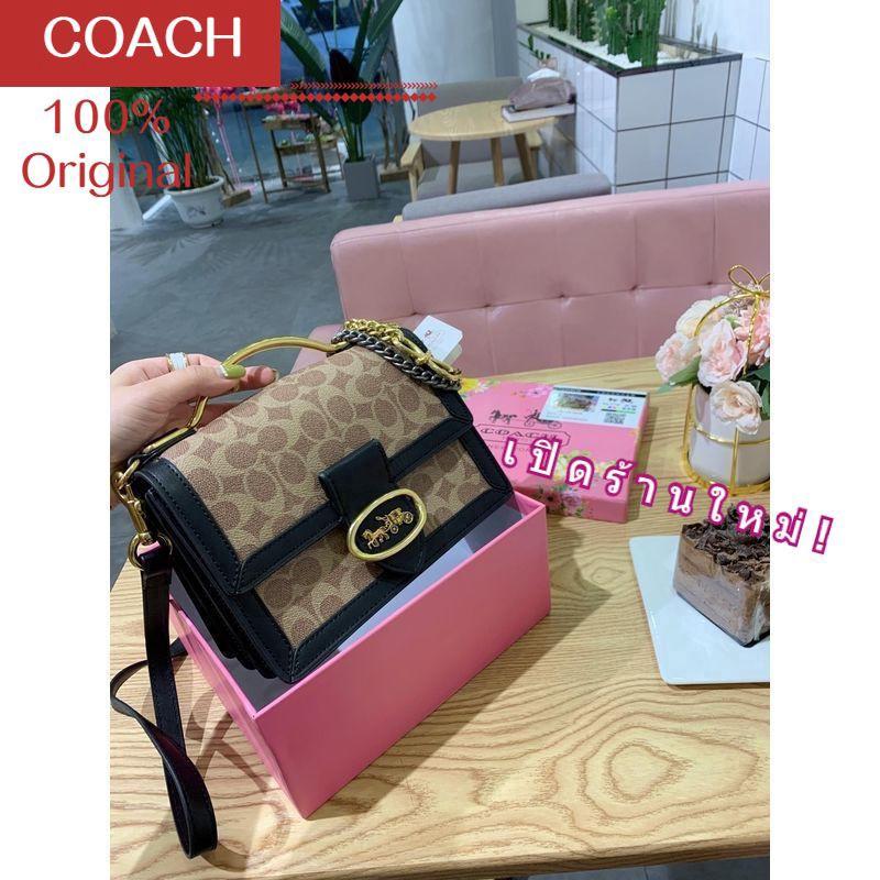 นิยมที่สุด กระเป๋า COACH WOMEN HANDBAG กระเป๋าสะพายข้าง BAG กระเป๋าสะพายข้าง กระเป๋าสตางค์ YOUNG  SLING BAG WOMEN