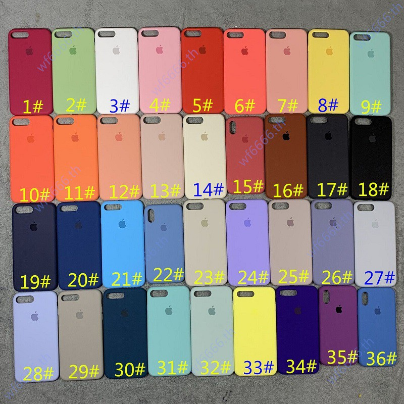 Image # 1 of Review เคส iphone 11 pro max เคสซิลิโคน สำหรับ iphone case 6 6s 6p 6sp 7plus i8p xr  Liquid Silicone Soft Case Cover/ซิลิโคน