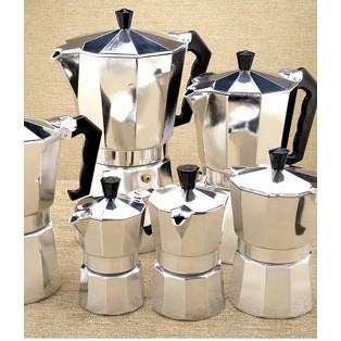 กาต้มกาแฟสดเครื่องชงกาแฟสด กาทำกาแฟสดที่ทำกาแฟสดพกพา Moka pot หม้อต้มกาแฟสด