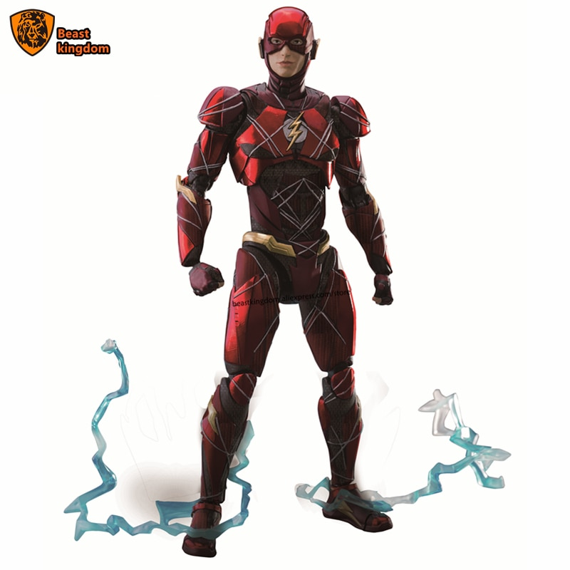 Beast kingdom 1/9 Dolls can move soldiers DC Dawan of justice The Flash Gift Figure Collection garage kit Toy Figures Co