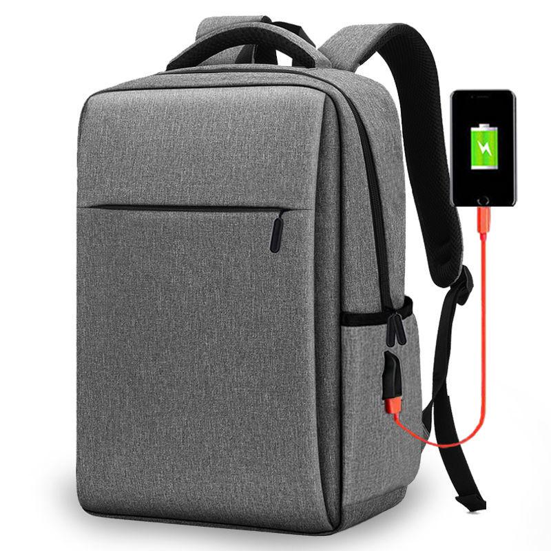 กระเป๋าเป้ของใหม่15นิ้วชาร์จกระเป๋าเป้สะพายหลังสำหรับผู้ชายและผู้หญิง14-กระเป๋าเป้ใส่แล็ปท็อปขนาดนิ้ว15.6กระเป๋าเดินทางธ