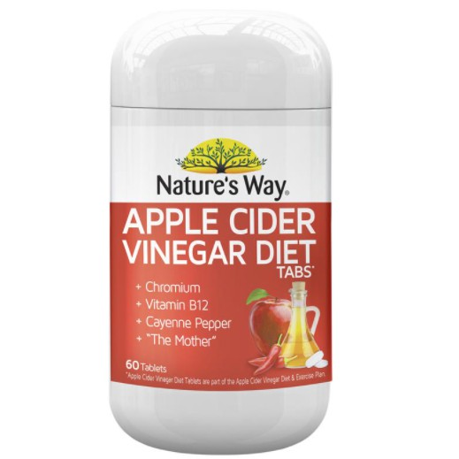 Nature's Way Apple Cider Vinegar Diet 60 เม็ด แอปเปิ้ลไซเดอร์ลดน้ำหนัก  นำเข้าจากออสเตรเลียของแท้ !!