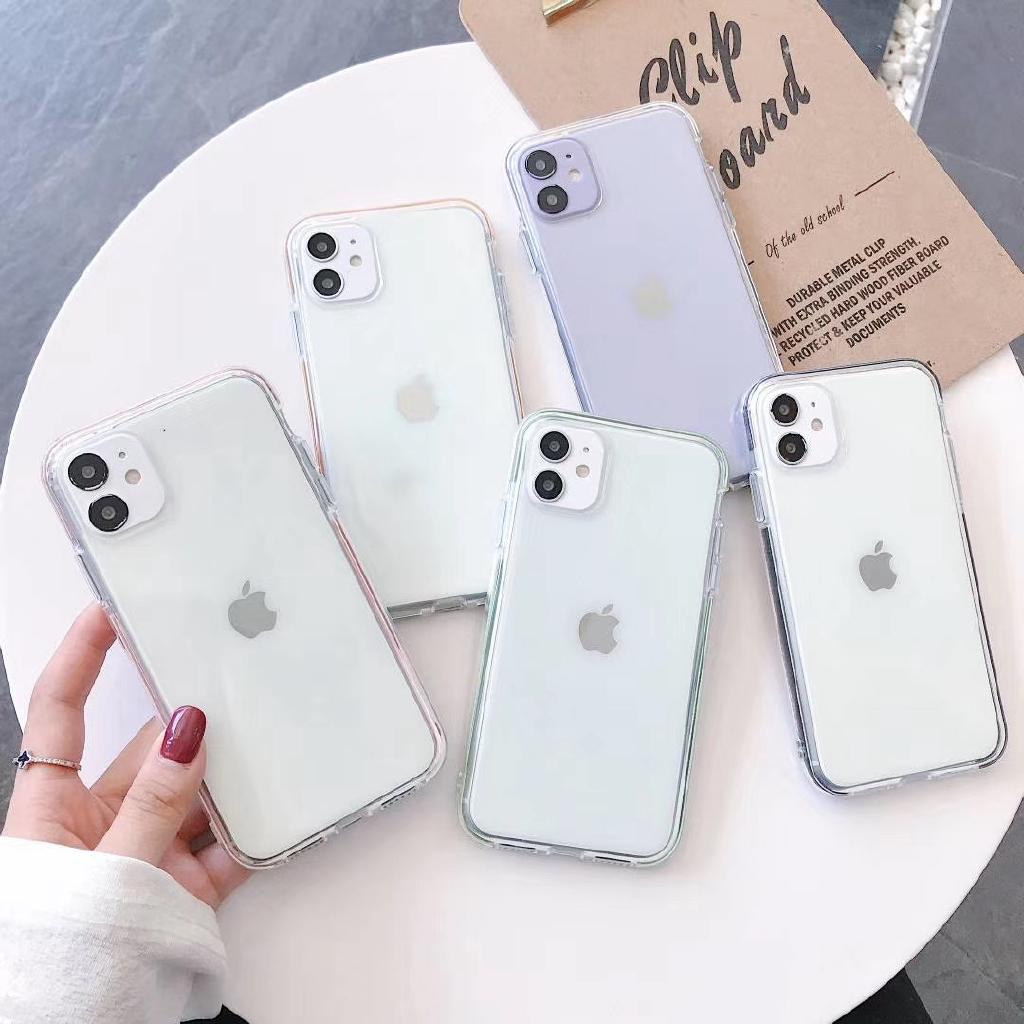 เคสโทรศัพท์มือถือแบบสองสีสําหรับ Iphone 11 Pro Xs Max Xr I 8 I 7 Plus