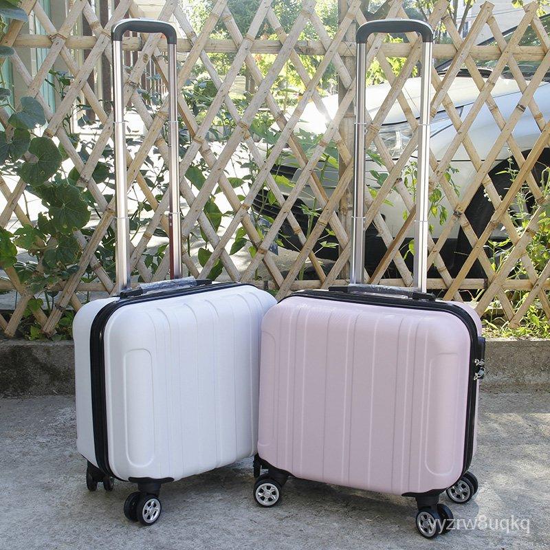 กระเป๋าเดินทางชายและหญิงกรณีรถเข็นขนาดเล็กกระเป๋าน้ำหนักเบา16-นิ้ว18นิ้วกระเป๋าเดินทางรหัสผ่านกล่องขนาดเล็กมินิ fDBY