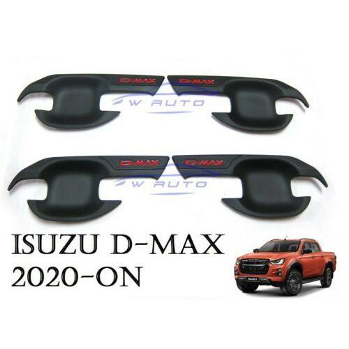 ✸◐เบ้ารองมือเปิดประตู Dmax 2020 4 ประตู เบ้ามือ จับ เปิด ถ้วย รอง มือ สีดำด้าน ดำ ดำด้าน อีซูซุ ดีแม็ค ออลนิว Isuzu D m