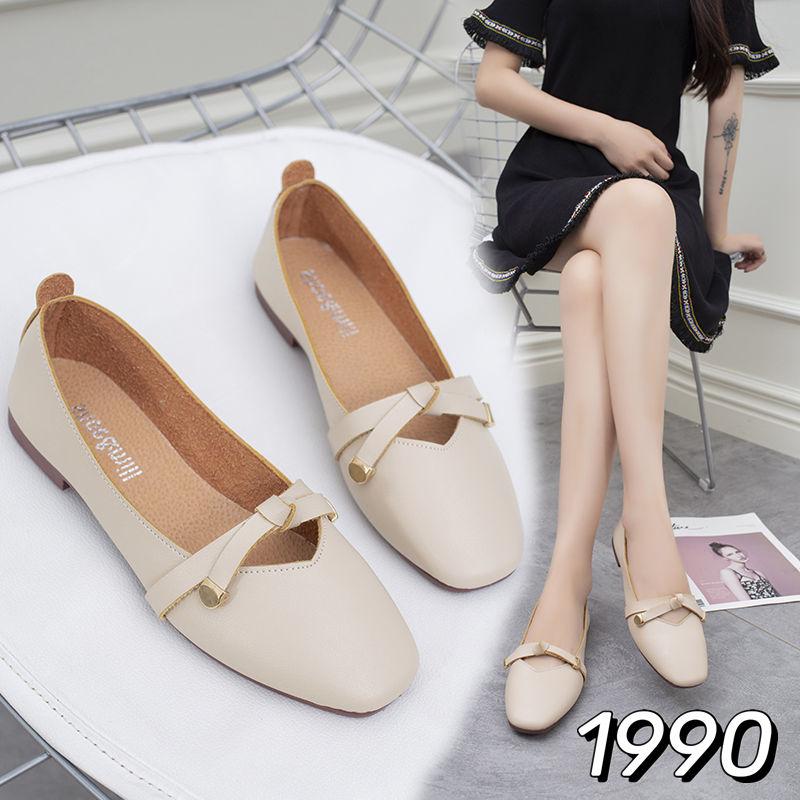 รองเท้าคัชชูผู้หญิง คัชชูหนังด้าน คัชชูสไตล์ญี่ปุ่น/เกาหลี