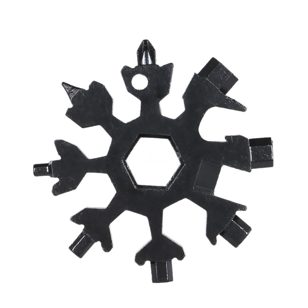 Portable 18 In 1 Incredible Tool Stainless Multi-tool Snowflake Design Tools T