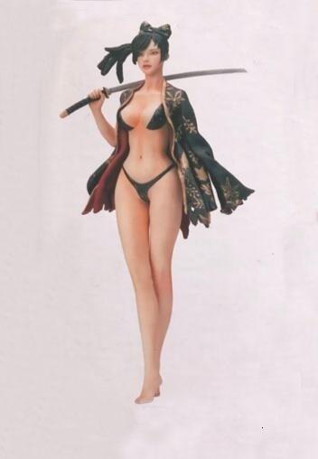 Resin Figure Kit Female Warrior Unpainted Garage Resin Model Kit