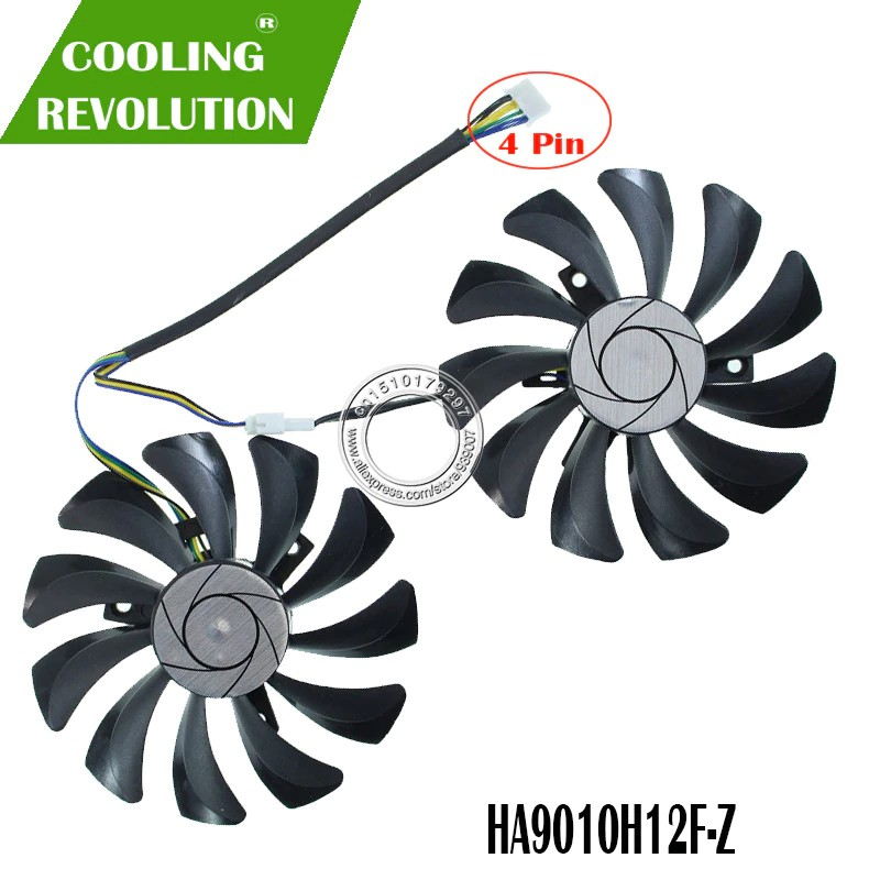 2pcs/set P106 GTX 1060 GPU VGA cooler For MSI GeForce GTX1060 GTX-1060-6GT-OC INNO3D GTX 1060 6GB video Graphics Card co