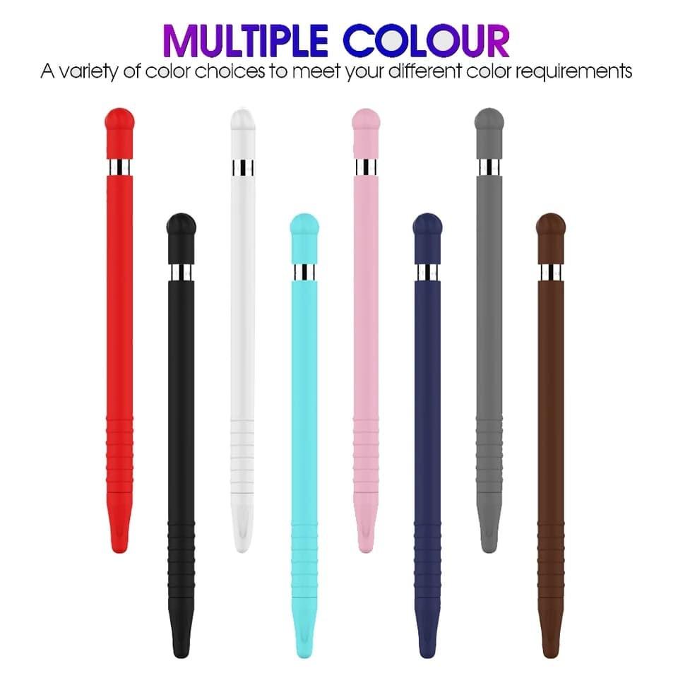 **พร้อมส่ง** Apple pencil case เคสปากกาซิลิโคนเชต 2 ชิ้นสำหรับ apple pencil gen 1