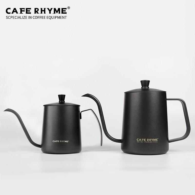 ✉℅หม้อกาแฟเครื่องชงกาแฟมือหม้อกาแฟไฟฟ้าCAFE RHYME หม้อต้มกาแฟทำมือหม้อต้มหูแขวนในครัวเรือนเทฟลอน 304 หม้อสแตนเลสปากยาว