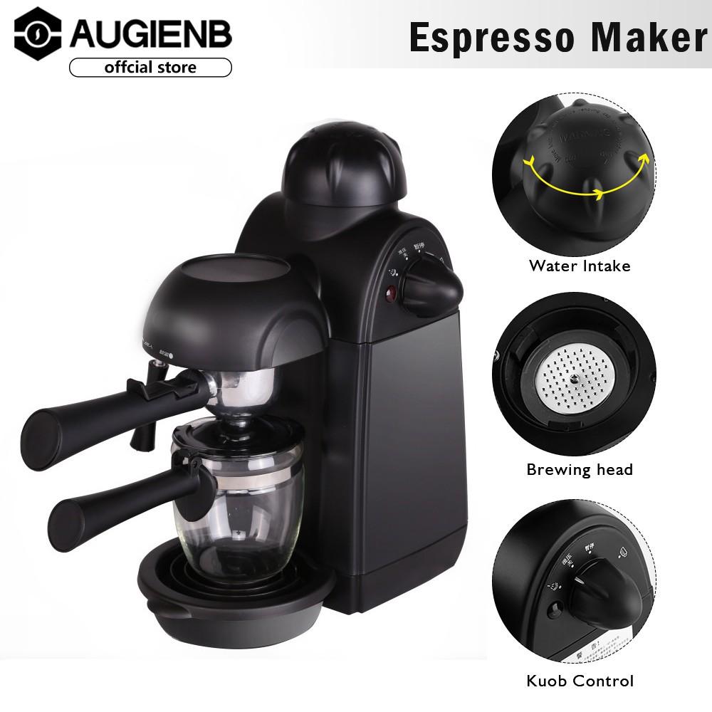 AUGIENB เครื่องทำกาแฟเอสเปรสโซเครื่องเป่าไอน้ำเครื่องชงกาแฟแบบพกพาเครื่องใช้ในครัว1