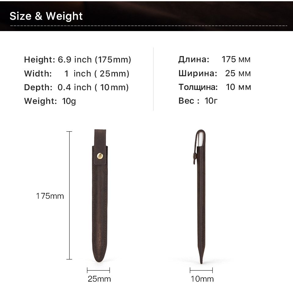 2020 New CONTACT'S FAMILY Portable Apple Pencil Case 2nd gen for Touch Screen Pen Tablet Pencil Holder Genuine Leather C