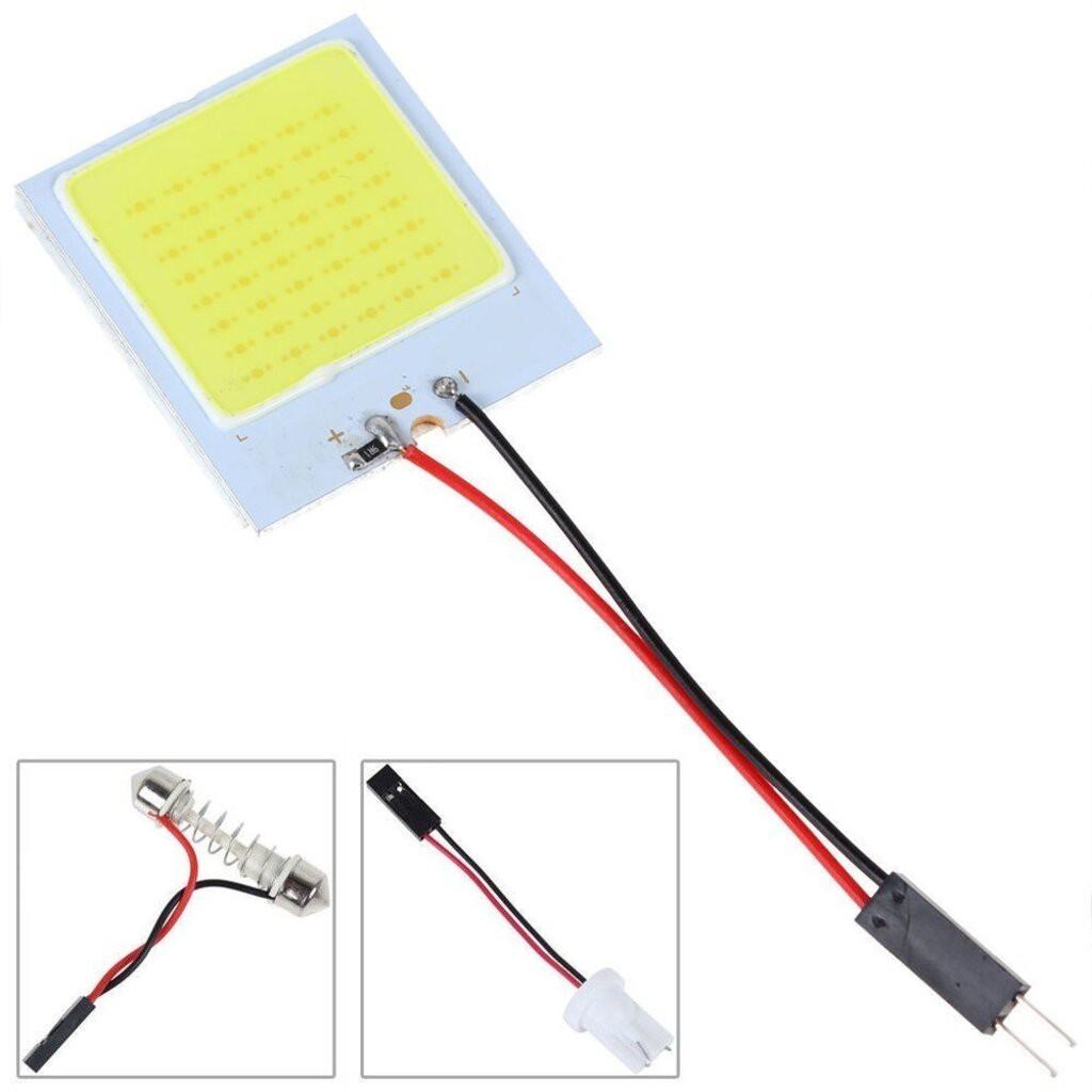👍✅💯✥ไฟ เพดาน รถยนต์ กลาง เก๋ง ส่อง สัมภาระ หลอดไฟ 48 SMD COB LED T 10 4 W 12V จำนวน 1แผง แท้ 100 % (สีขาว) สำหรับติ...1