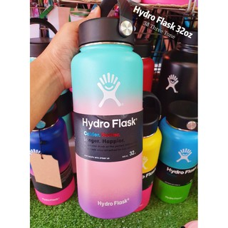 Review 🥤Hydro Flask ขนาด 32oz. รุ่นสีThree Tone 3สีหายาก  Wide Mouth Bottle Extra long Cold or Heat 🥤