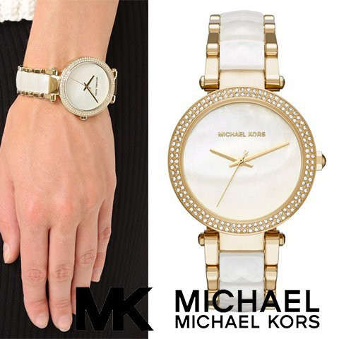 e64077e3dfd3 MICHAEL KORS WATCHES MK5161 Ladies Chronograph White Ceramic Watch ...