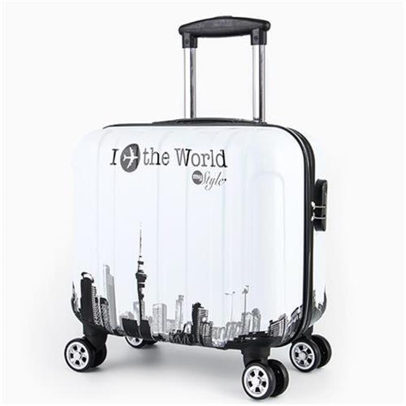 กระเป๋าจักรยาน✲﹍☂> กระเป๋าเดินทางใบเล็ก หญิง i เด็ก j กระเป๋ารถเข็นเด็ก ชาย 18 นิ้ว Universal Wheel Travel Boarding T Lu